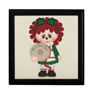 Muñeca adorable del navidad del país caja de recuerdo