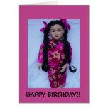 Muñeca asiática hermosa tarjeton