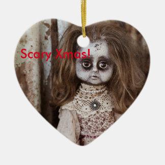 Muñeca asustadiza de Navidad Adorno Navideño De Cerámica En Forma De Corazón
