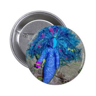 Muñeca azul de la diosa de Xavychup Chapa Redonda 5 Cm