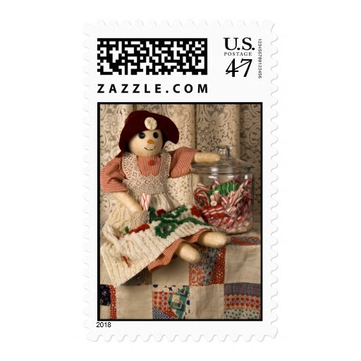 Muñeca de 2335 muñecos de nieve en franqueo del timbre postal
