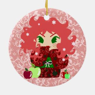 Muñeca de Apple Kokeshi Adorno De Navidad