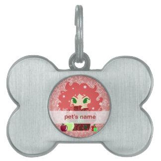 Muñeca de Apple Kokeshi Placas Mascota