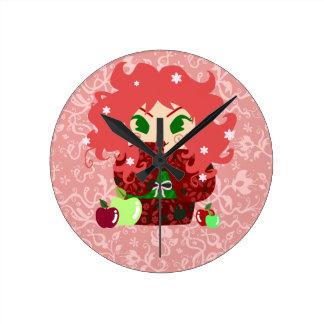 Muñeca de Apple Kokeshi Reloj De Pared