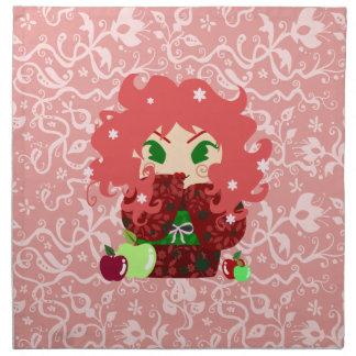 Muñeca de Apple Kokeshi Servilleta Imprimida