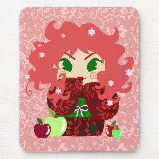Muñeca de Apple Kokeshi Tapete De Ratón