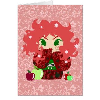 Muñeca de Apple Kokeshi Felicitacion