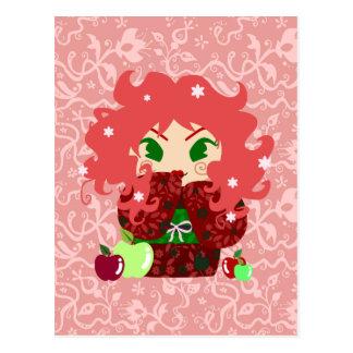 Muñeca de Apple Kokeshi Postales