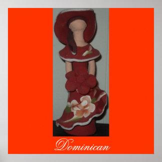 Muñeca de cerámica dominicana anónima, pecado Rost Póster