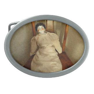 Muñeca de China en silla Hebilla De Cinturón Oval