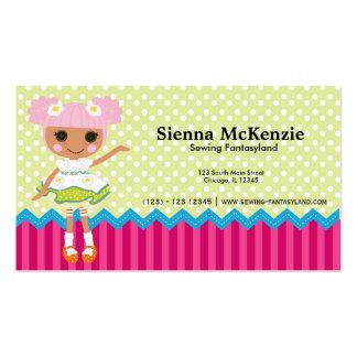 Muñeca de costura tarjetas personales