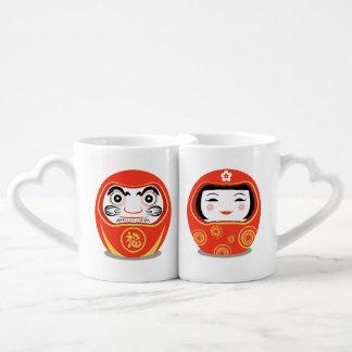 Muñeca de Daruma Set De Tazas De Café