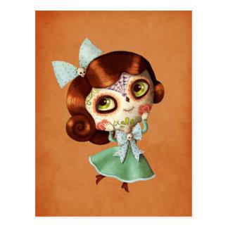 Muñeca de Dia de Los Muertos Vintage Tarjetas Postales