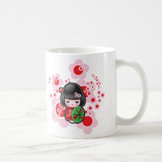 Muñeca de Kawaii Kokeshi Tazas De Café