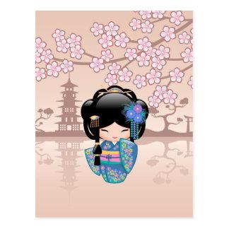 Muñeca de Keiko Kokeshi del japonés Postal