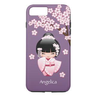 Muñeca de Kokeshi de la novia - chica de geisha Funda iPhone 7 Plus