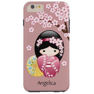 Muñeca de Kokeshi de la primavera - geisha japonés Funda De iPhone 6 Plus Tough