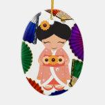 Muñeca de Kokeshi - SRF Ornamento Para Reyes Magos