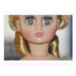 Muñeca de la bailarina tarjetas postales