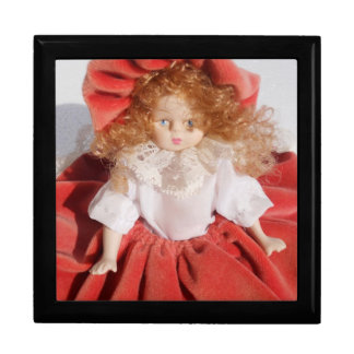 muñeca de la porcelana caja de joyas