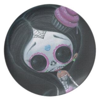 muñeca de los muertos plato