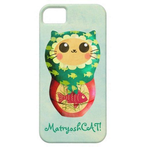 Muñeca de Matryoshka del gato Funda Para iPhone 5 Barely There