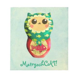 Muñeca de Matryoshka del gato Libretas Para Notas