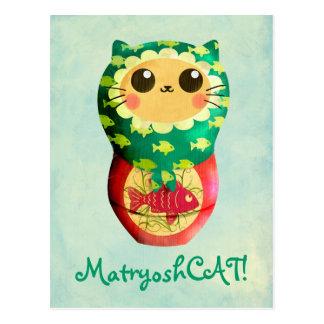 Muñeca de Matryoshka del gato Postal