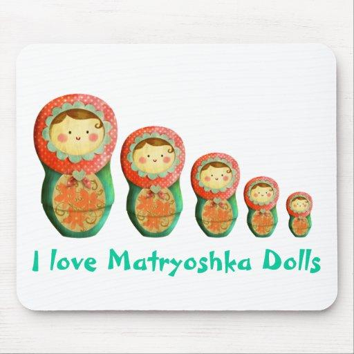 Muñeca de Matryoshka del ruso Alfombrillas De Ratones