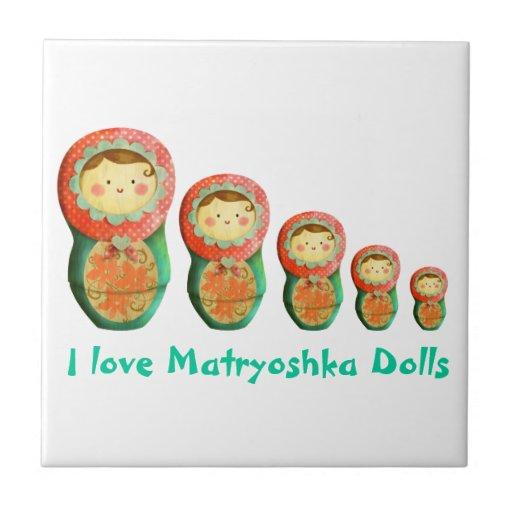 Muñeca de Matryoshka del ruso Tejas