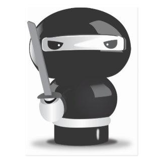 Muñeca de Ninja Tarjetas Postales
