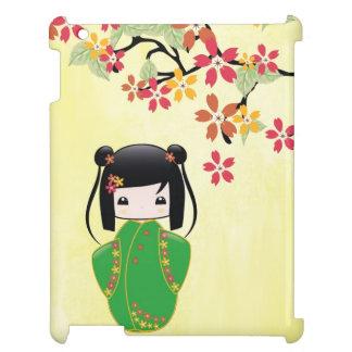 Muñeca de Sakura Kokeshi, caso del iPad