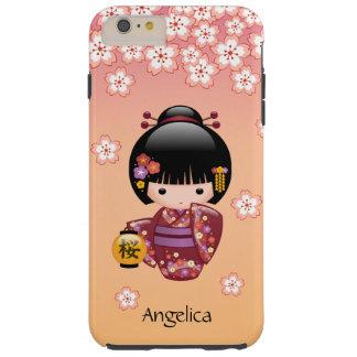 Muñeca de Sakura Kokeshi - chica de geisha en el Funda Resistente iPhone 6 Plus
