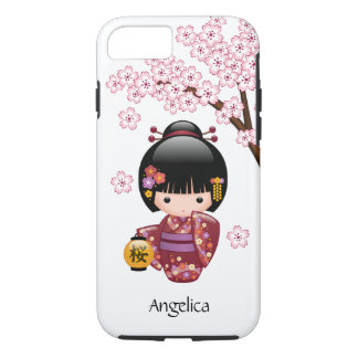 Muñeca de Sakura Kokeshi - chica de geisha japonés Funda iPhone 7
