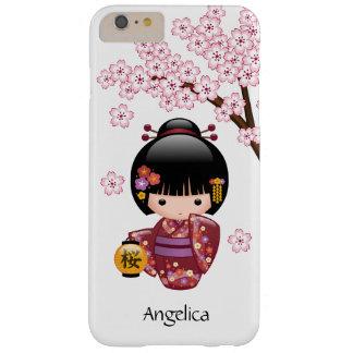 Muñeca de Sakura Kokeshi del japonés Funda De iPhone 6 Plus Barely There