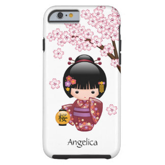 Muñeca de Sakura Kokeshi del japonés Funda De iPhone 6 Tough