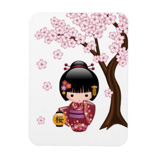 Muñeca de Sakura Kokeshi del japonés Iman