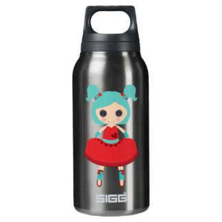 Muñeca de trapo adorable retra botella isotérmica de agua