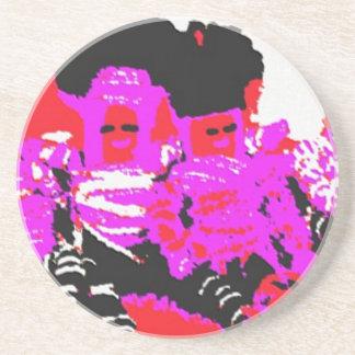 Muñeca de trapo de Lappenpop - rojo Posavasos Personalizados