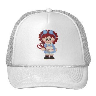 Muñeca de trapo femenina de costura retra gorras de camionero