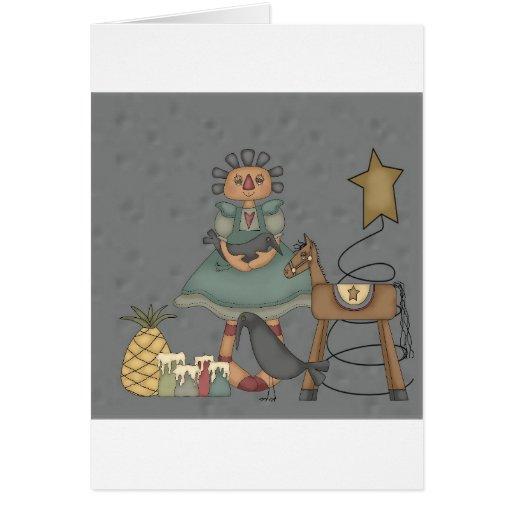 Muñeca de trapo tarjeta de felicitación