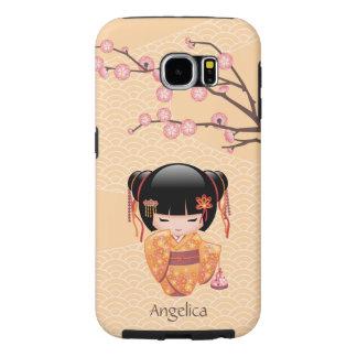 Muñeca de Ume Kokeshi - chica de geisha japonés Funda Samsung Galaxy S6
