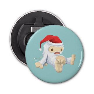 Muñeca de Yeti del navidad que lleva un gorra de Abrebotellas Redondo