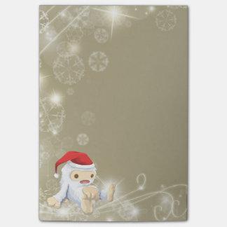 Muñeca de Yeti del navidad que lleva un gorra de Post-it® Notas