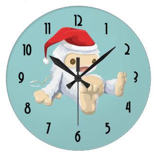Muñeca de Yeti del navidad que lleva un gorra de Reloj Redondo Grande