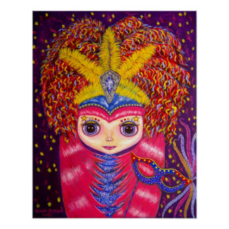 Muñeca del carnaval póster