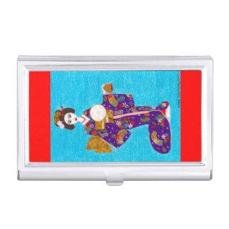 Muñeca del geisha caja de tarjetas de presentación