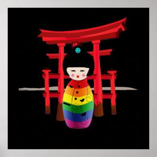 Muñeca del geisha de LGBT Póster