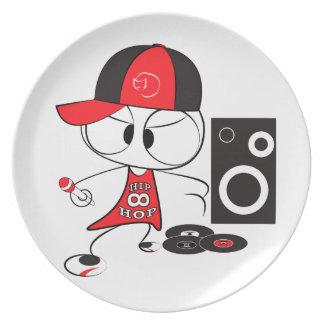 Muñeca del golpeador del hip-hop plato de cena
