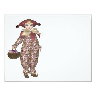 Muñeca del payaso de Pierrot con los huevos de
